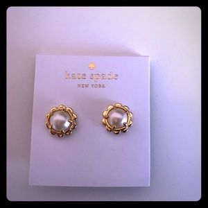 Kate Spade Gold Plated Scalloped Stud Earrings
